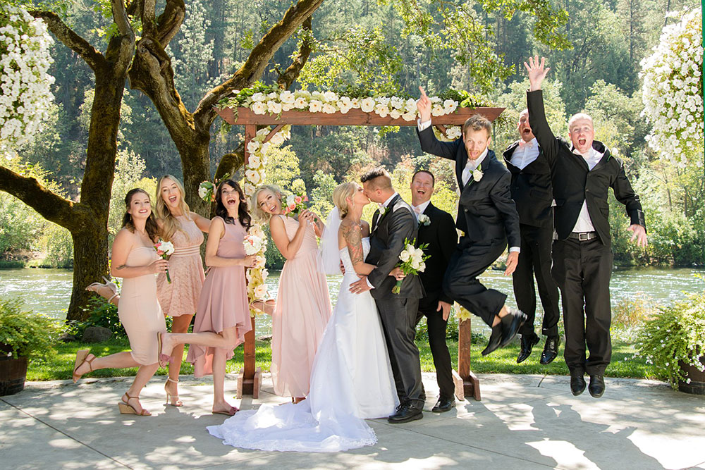 Entire Wedding Party - Rogue River wedding